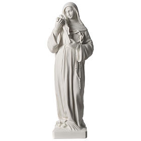 Saint Rita statue in white marble dust sized 39 cm s1