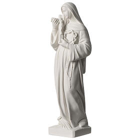 Saint Rita statue in white marble dust sized 39 cm s3