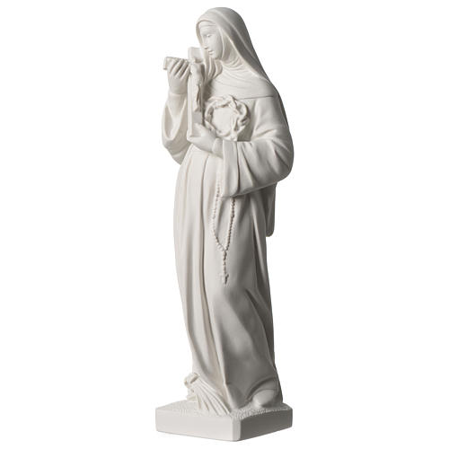 Saint Rita statue in white marble dust sized 39 cm 3
