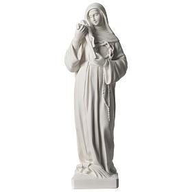 Statue Sainte Rita poudre de marbre blanc 39 cm s1