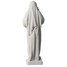 Statue Sainte Rita poudre de marbre blanc 39 cm s5