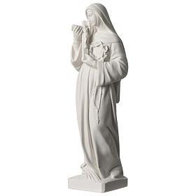 Statua Santa Rita polvere di marmo bianco 39 cm s3