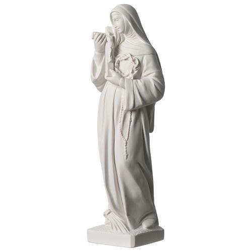 Statua Santa Rita polvere di marmo bianco 39 cm 3