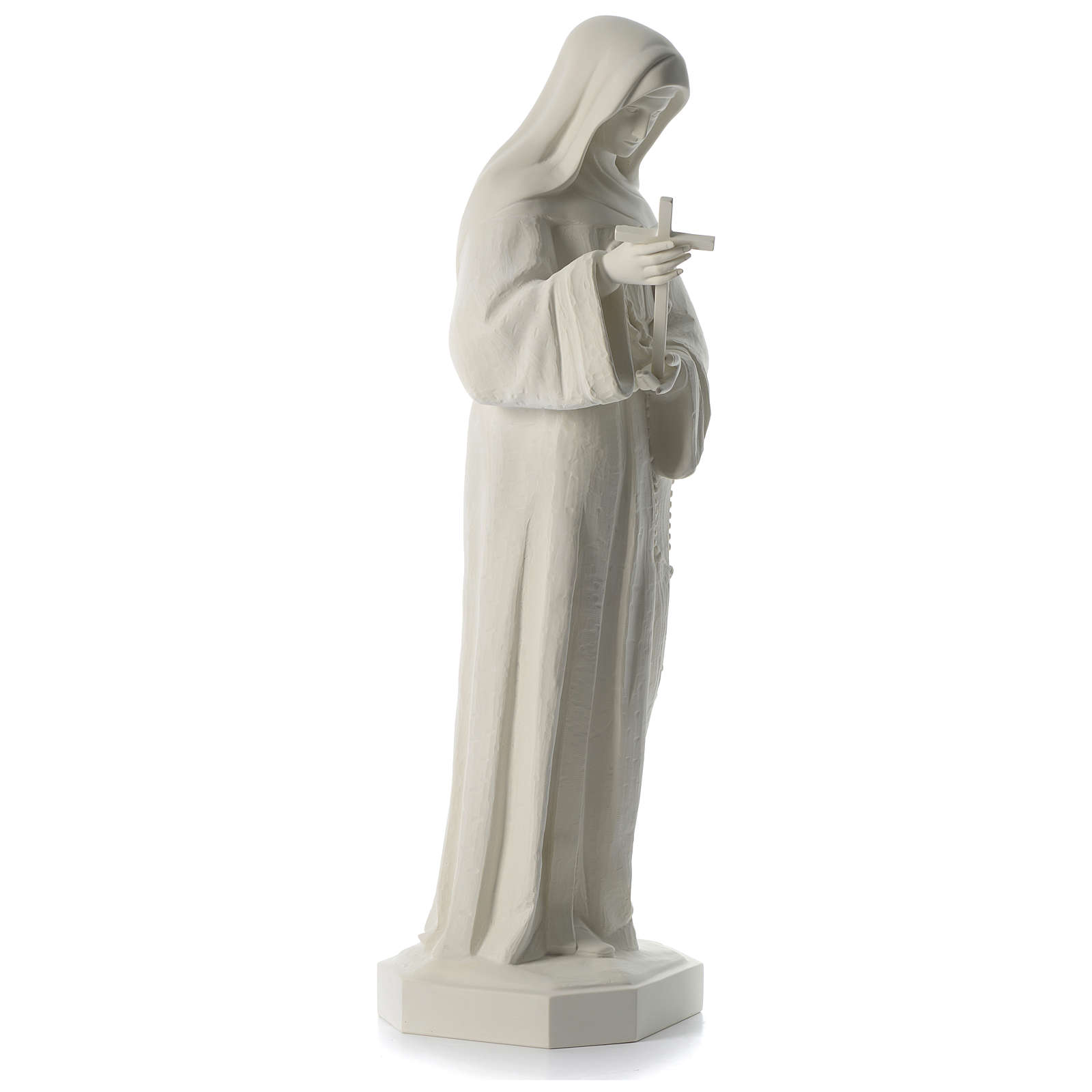 Statua Santa Rita polvere di marmo bianco 100 cm 4