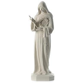 Statua Santa Rita polvere di marmo bianco 100 cm s1