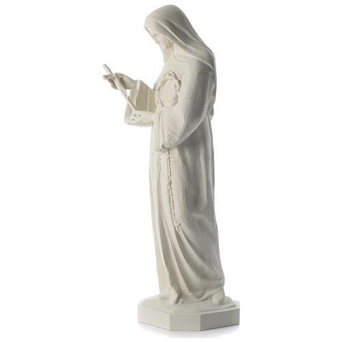 Statua Santa Rita polvere di marmo bianco 100 cm 3