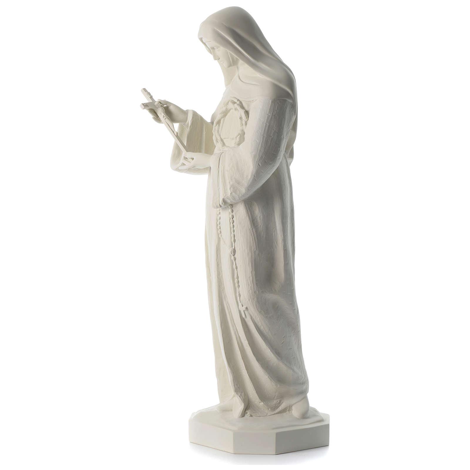 Saint Rita white composite marble statue 39 inches 4
