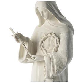 Saint Rita white composite marble statue 39 inches s2