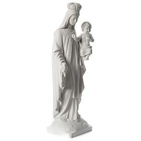 Virgen del Carmen mármol sintético blanco 80 cm s4
