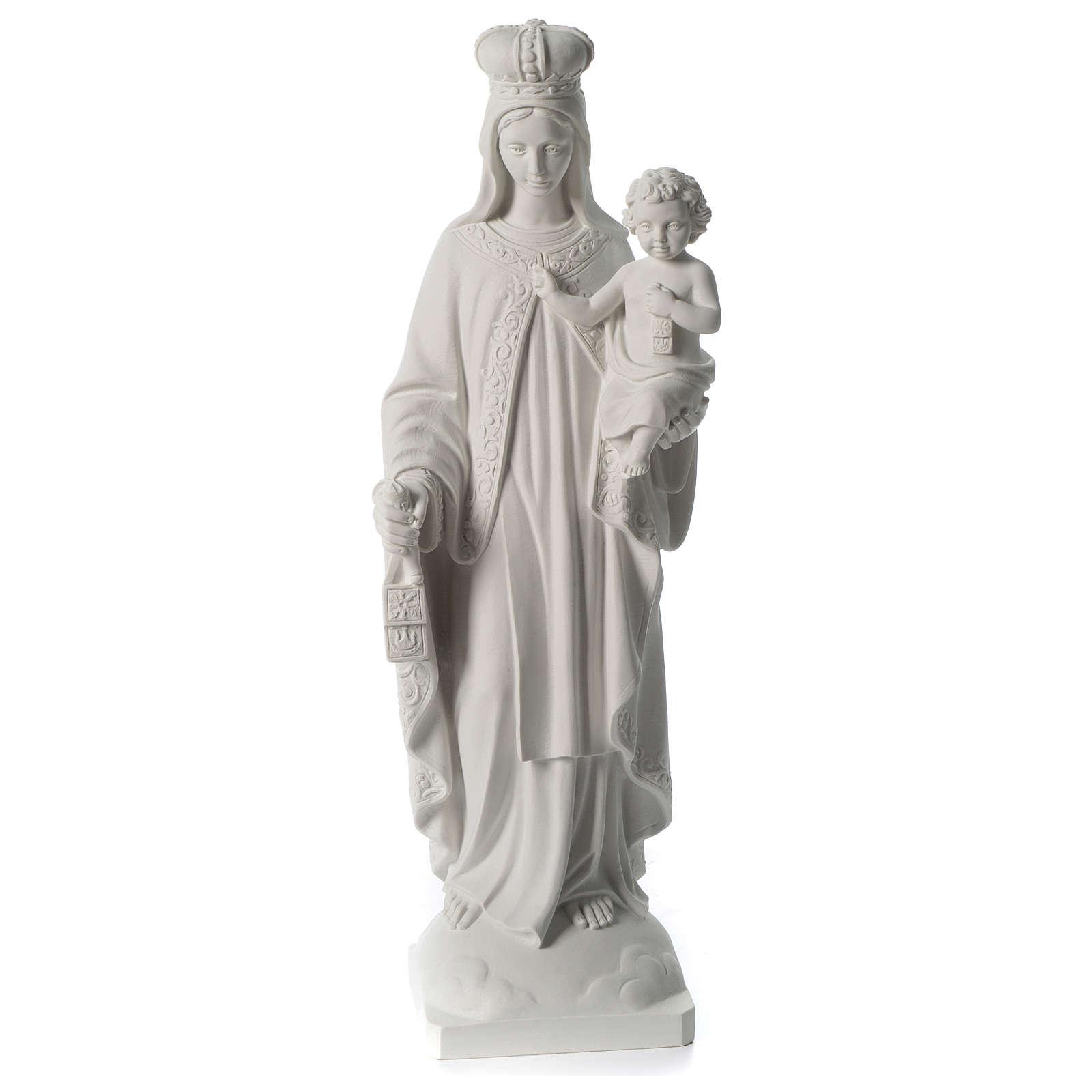 Notre-Dame du Mont Carmel marbre synthétique blanc 80 cm 4