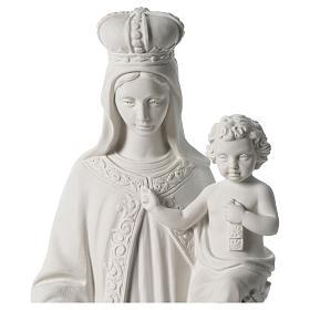 Madonna del Carmelo marmo sintetico bianco 80 cm s2