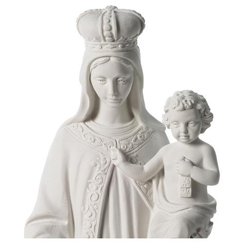 Madonna del Carmelo marmo sintetico bianco 80 cm 2