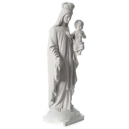 Madonna del Carmelo marmo sintetico bianco 80 cm 4