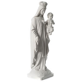 Our Lady of Mount Carmel white composite marble statue 31 inches s4