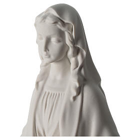 Our Lady of Miracles statue in Carrara marble dust 40 cm s2
