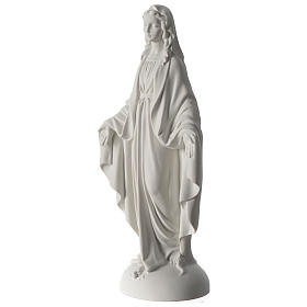 Our Lady of Miracles statue in Carrara marble dust 40 cm s3