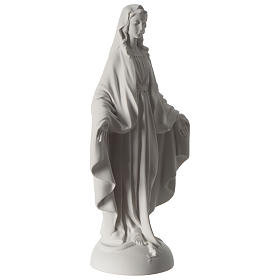 Our Lady of Miracles statue in Carrara marble dust 40 cm s4