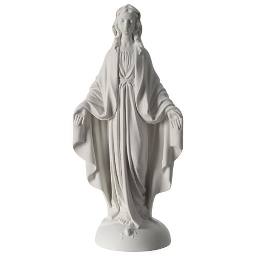 Our Lady of Miracles statue in Carrara marble dust 40 cm 1