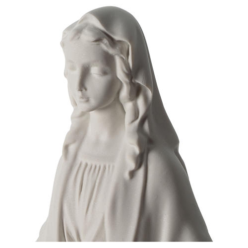 Our Lady of Miracles statue in Carrara marble dust 40 cm 2