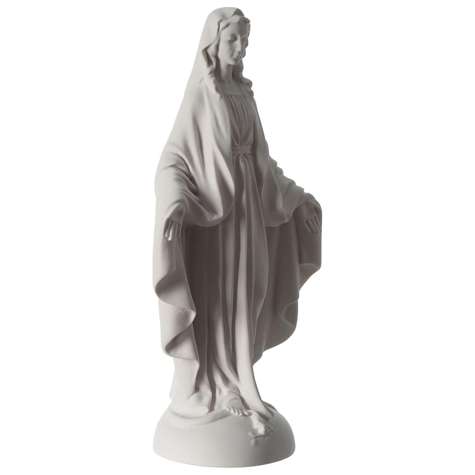 Estatua Virgen Milagrosa polvo de mármol 40 cm 4