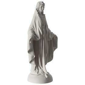Estatua Virgen Milagrosa polvo de mármol 40 cm s4