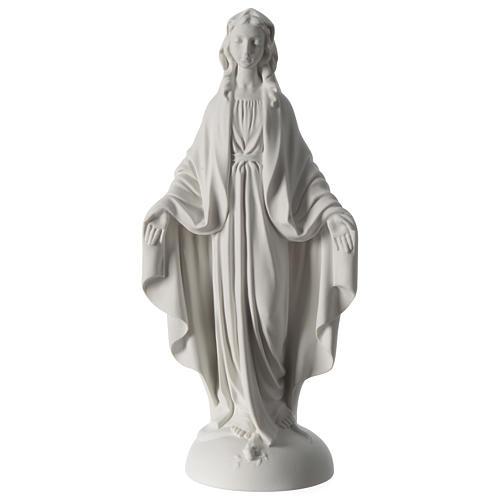 Estatua Virgen Milagrosa polvo de mármol 40 cm 1