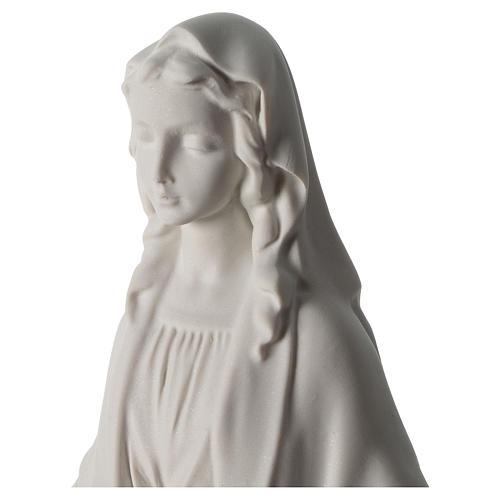 Estatua Virgen Milagrosa polvo de mármol 40 cm 2