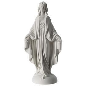 Statue Vierge Miraculeuse poudre de marbre 40 cm s1