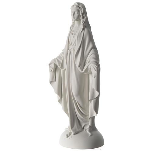 Statua Madonna Miracolosa polvere di marmo 40 cm 3