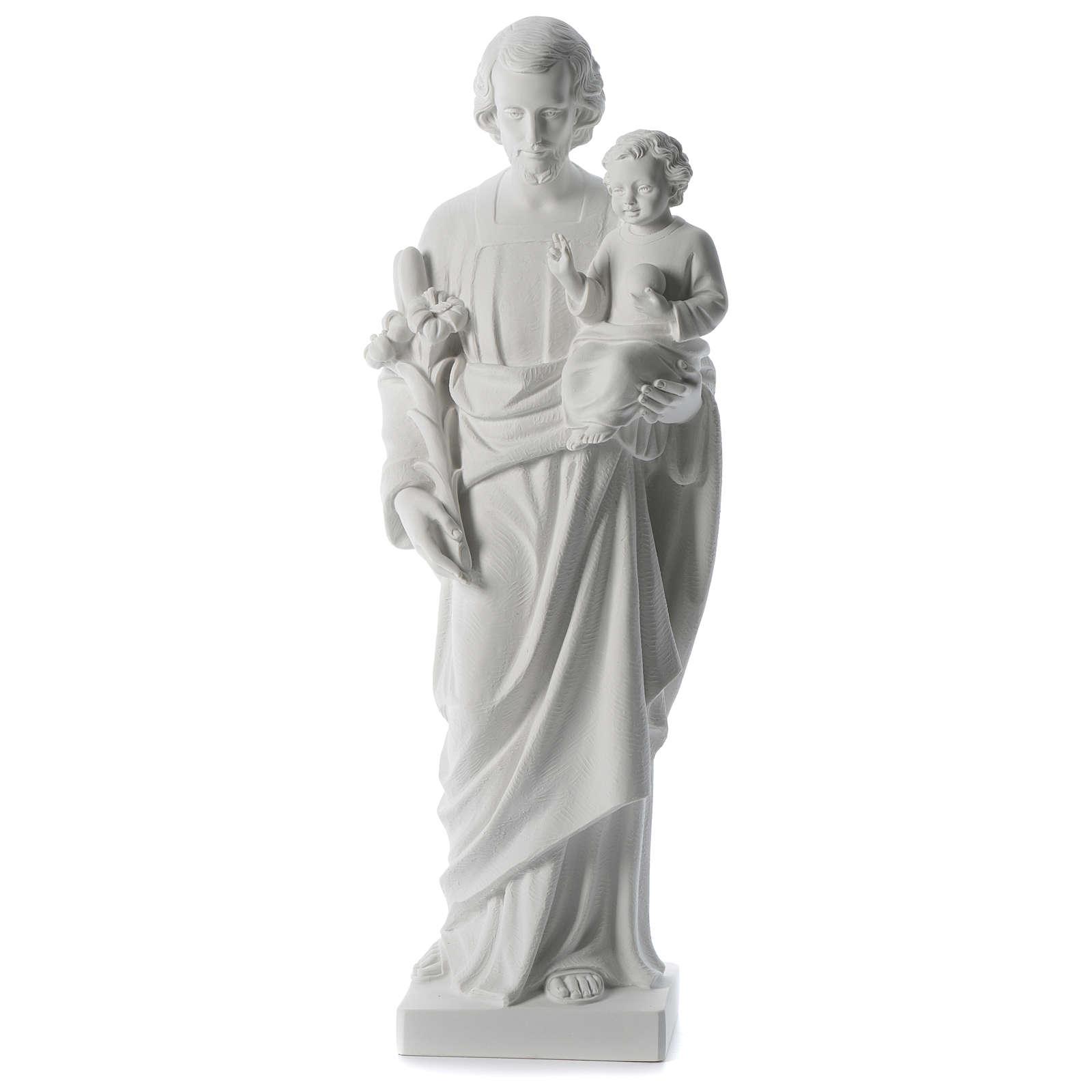Statue Hl. Josef mit Christkind 80cm Kunstmarmor 4