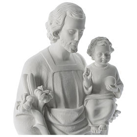 Statue Hl. Josef mit Christkind 80cm Kunstmarmor s2
