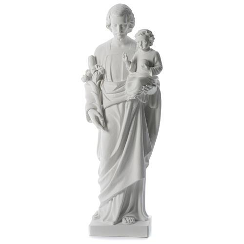 Statue Hl. Josef mit Christkind 80cm Kunstmarmor 1