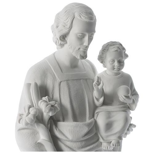 Statue Hl. Josef mit Christkind 80cm Kunstmarmor 2