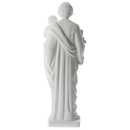 Saint Joseph poudre de marbre blanc 80 cm 5