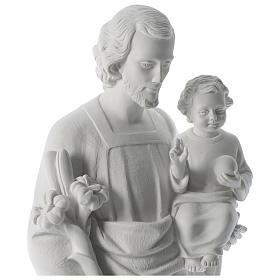 San Giuseppe polvere di marmo bianco 80 cm s2