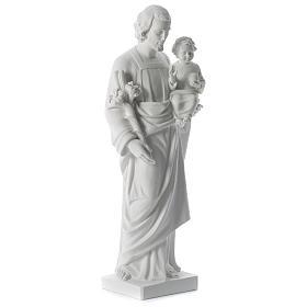 San Giuseppe polvere di marmo bianco 80 cm s3