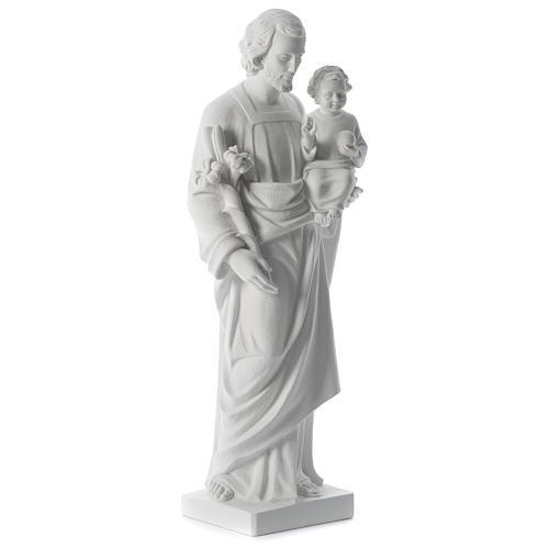 San Giuseppe polvere di marmo bianco 80 cm 3