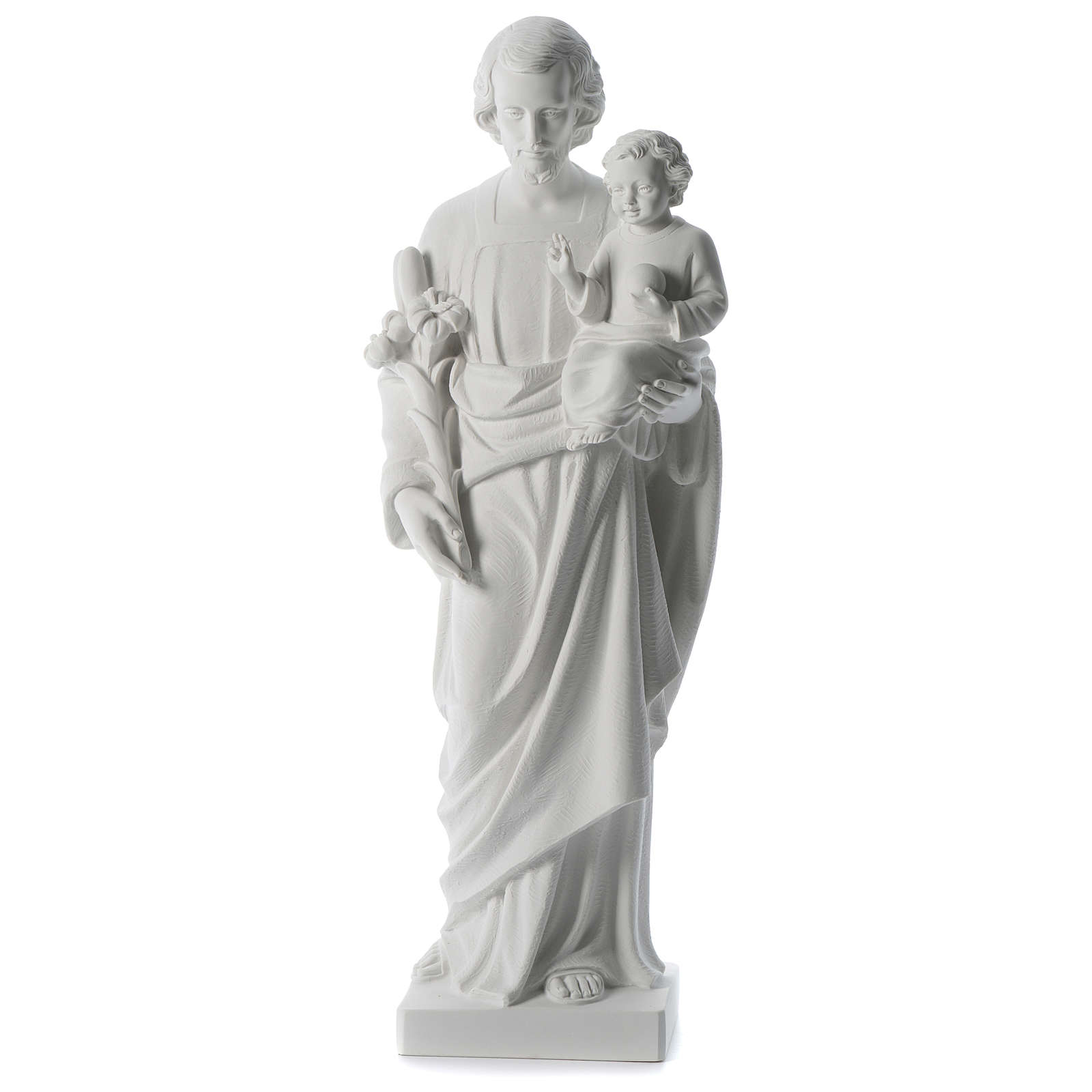 Saint Joseph white composite marble statue 31 inches 4