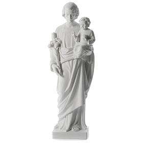 Saint Joseph white composite marble statue 31 inches s1