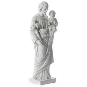 Saint Joseph white composite marble statue 31 inches s3