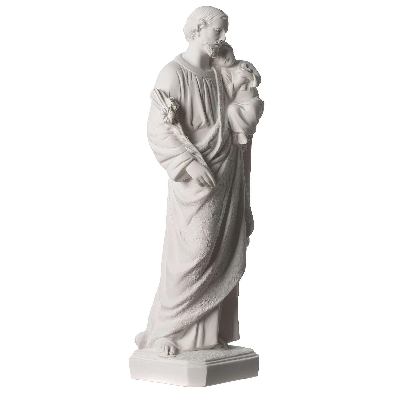 Statue Hl. Josef mit Christkind 50cm Kunstmarmor 4