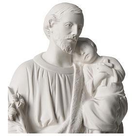Statue Hl. Josef mit Christkind 50cm Kunstmarmor s2