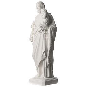Statue Hl. Josef mit Christkind 50cm Kunstmarmor s3