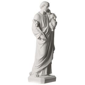 Statue Hl. Josef mit Christkind 50cm Kunstmarmor s4