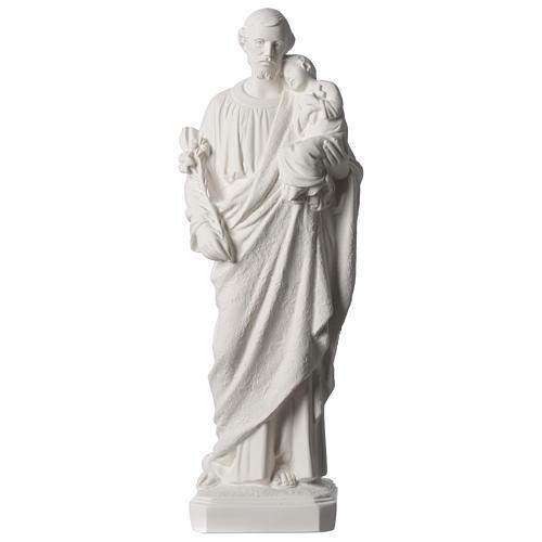 Statue Hl. Josef mit Christkind 50cm Kunstmarmor 1