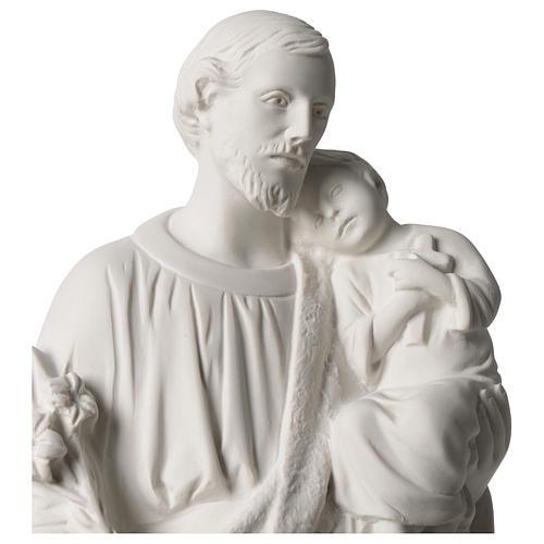 Statue Hl. Josef mit Christkind 50cm Kunstmarmor 2