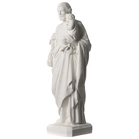 Saint Joseph statue in synthetic marble 50 cm s3