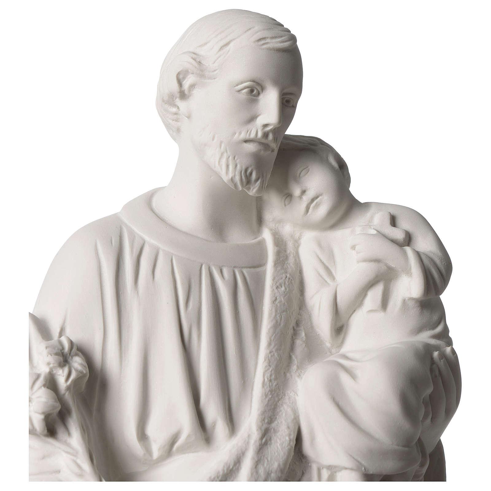 Statua San Giuseppe marmo sintetico 50 cm 4