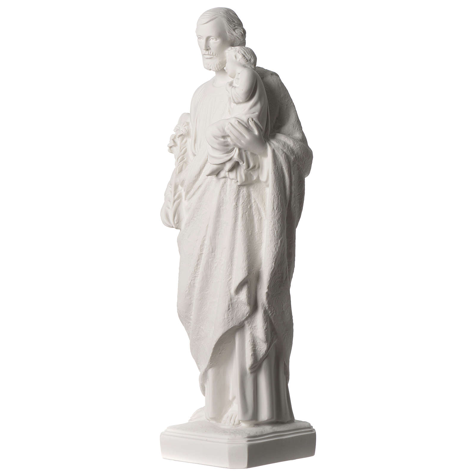 Saint Joseph white marble statue 19.5 inches 4