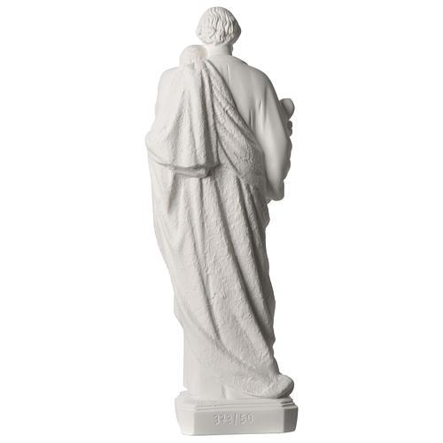 Saint Joseph white marble statue 19.5 inches 5